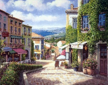 UX017 European Towns Oil Paintings